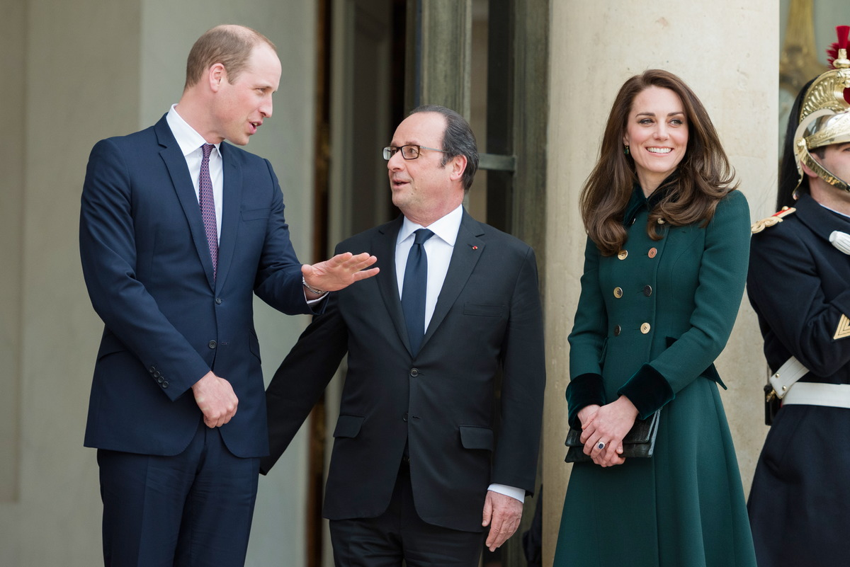 Prinz William, Francois Hollande, Kate Middleton