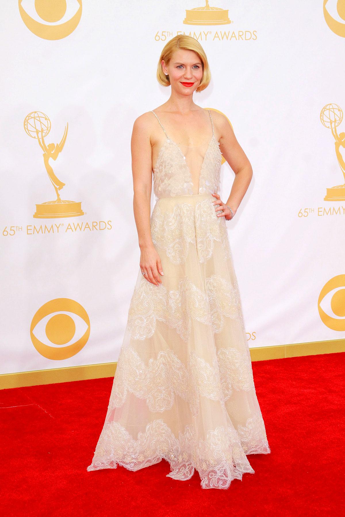 Claire Danes im September 2013 auf den 65. Emmy Awards