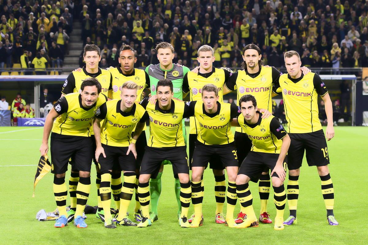 Mats Hummels und die Mannschaft von Borussia Dortmund
